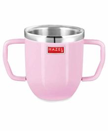 Hazel Stainless Steel Double Handle  Mug Pink - 250 ML