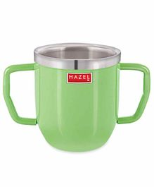 Hazel Stainless Steel Double Handle  Mug Green - 250 ML