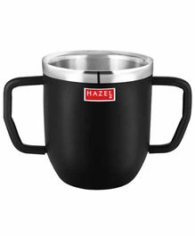 Hazel Stainless Steel Double Handle  Mug Black - 250 ML