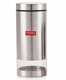 Hazel Stainless Steel Transparent Container Silver - 1000 ml