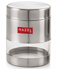 Hazel Stainless Steel Transparent Container Silver - 450 ml