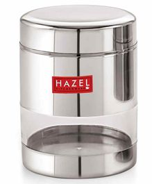 Hazel Stainless Steel Transparent Container Silver - 450 ml each