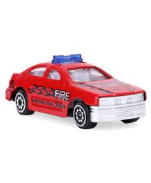 Die Cast Pull Back Fire Protection Car Toy - Red