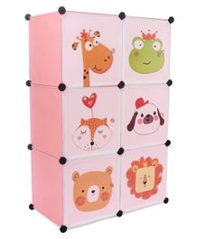 6 Compartment Storage Cabinet - Pink