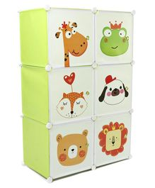 6 Compartment Storage Cabinet - Green