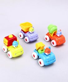 Pull Back Construction Toy Vehicles Pack of 4 - Multicolour