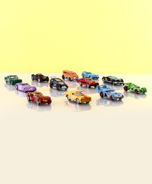 Free Wheel Toy Cars Pack of 12 - Multicolor