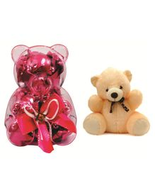 Skyloft Chocolate Box with Teddy Gift Set - Pink Cream