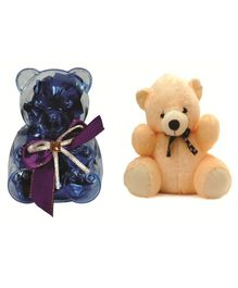 Skylofts Chocolate Box with Teddy Gift Set - Blue Cream