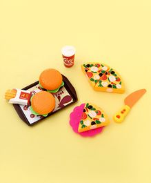 Play Food Set with Tray & Knife Pack of 16 - Multicolor