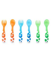 Munchkin Fork & Spoon Pack of 6 - Multicolor