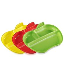 Munchkin Plate Apple Shape Set of 3 - Multicolor