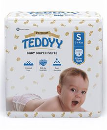 Teddyy Baby Premium Pant Style Diapers Small - 17 Pieces
