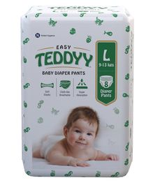 Teddyy Baby Easy Pant Style Diapers Large - 8 Pieces