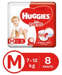 Huggies Dry Pants Medium Size Diapers - 8 Pieces