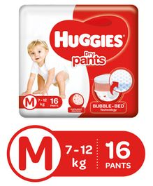Huggies Dry Pants Medium Size Diapers - 16 Pieces