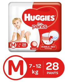 Huggies Dry Pants Medium Size Diapers - 28 Pieces