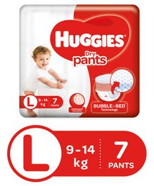 Huggies Dry Pants Large Size Diapers - 7 Pieces
