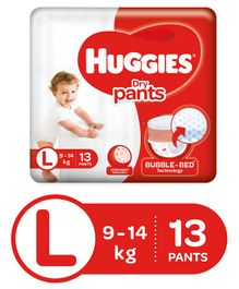 Huggies Dry Pants Large Size Diapers - 13 Pieces