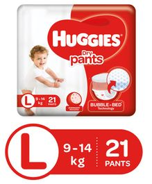 Huggies Dry Pants Large Size Diapers - 21 Pieces