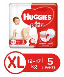 Huggies Dry Pants Extra Large Size Diapers - 5 Pieces