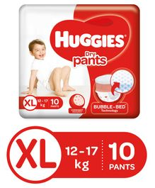 Huggies Dry Pants Extra Large Size Diapers - 10 Pieces