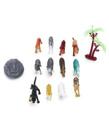 Wild Animal Figurines Pack of 14 - Multicolor