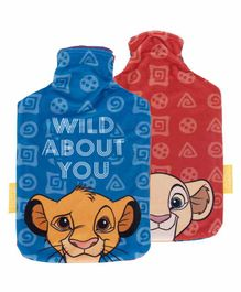 Arditex Hot Water Bottle with Textile Cover Lion King Design - Capacity 2 Litres