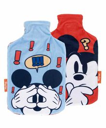 Arditex Hot Water Bottle with Textile Cover Mickey Mouse Design - Capacity 2 Litres