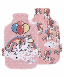 Arditex Hot Water Bottle with Textile Cover Unicorn Design - Capacity 2 Litres