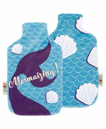 Arditex Hot Water Bottle with Textile Cover Mermaid Design - Capacity 2 Litres