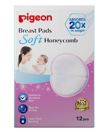 Pigeon Honeycomb Breast Pads - 12 Pieces