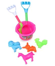 Beach toys Set with animal Shape Moulds Pack of 7 - Multicolor