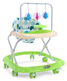 Baby Walker with Hanging Toys - Green