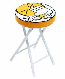 Arditex Printed Foldable Stool - Yellow