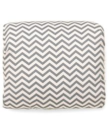 Chevron Arm Nursing Pillow - Grey White
