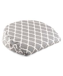 Printed Wedge Pregnancy Pillow - Grey