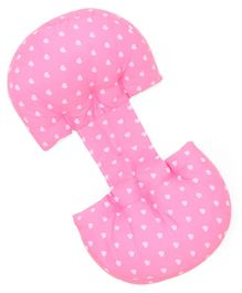 U-Shaped Waist Protection Pregnancy Pillow - Pink