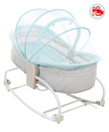 Babyhug Opal 3 in 1 Cosy Rocker cum Sleeper with Mosquito Net - Beige