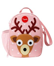 3 Sprouts Lunch Box Bag Deer Patch - Pink