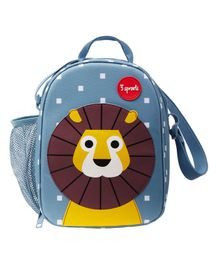 3 Sprouts Lunch Box Bag Lion Patch - Blue