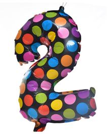 Party Anthem Foil Balloon Polka Dot Print Multicolor - Height 40 cm
