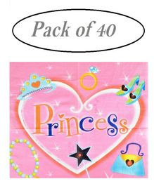 Party Anthem Paper Napkins Princess Print - Pack of 40 Sheets