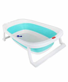 LuvLap Foldable Bath Tub with Soap Case - Sea Green