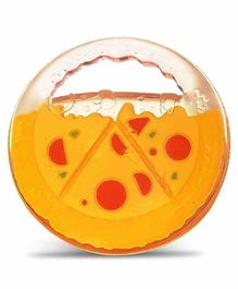 Luvlap Pizza Shape Silicone Teether - Yellow