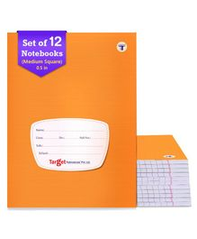 Target Publication Medium Square Ruled Notebooks Pack of 12 - 76 Pages each