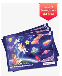 Target A4 Size Drawing Book Set of 3 - 36 Pages each