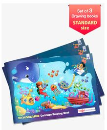 Target Standard Size Drawing Book Set of 3 - 36 Pages each