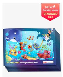 Target Standard Size Drawing Book Set of 6 - 36 Pages each