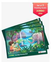 Target Jumbo Size Drawing Book Set of 3 - 36 Pages each